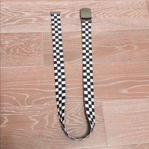 Brandy Melville checkered belt